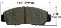 Click for a larger picture of Hawk Brake Pad: Acura, 03-10 Honda Accord EX (D787)