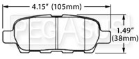 Click for a larger picture of Hawk Brake Pad, 2003-08 Nissan 350Z Rear (D905)