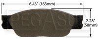 Click for a larger picture of Hawk Brake Pad: Ford, Jaguar, Lincoln (D805)
