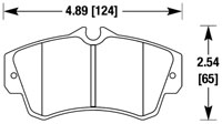 Click for a larger picture of Hawk Brake Pad: Dodge Neon SRT-4, PT Cruiser (D841)
