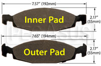 Click for a larger picture of Hawk Brake Pad: 99-02 Jeep Grand Cherokee (D790)
