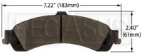 Click for a larger picture of Hawk Brake Pad: Cadillac, Chevy/GMC Truck Rear (D834)