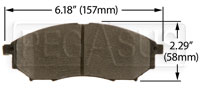 Click for a larger picture of Hawk Brake Pad: 2004-08 Nissan 350Z, Infiniti G35 (D888)
