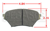 Click for a larger picture of Hawk Brake Pad, 01-05 Mazda Miata Sport Suspension (D890)