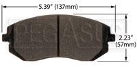 Click for a larger picture of Hawk Brake Pad: 03-05, 08-09 Subaru WRX, Saab 9-2X (D929)