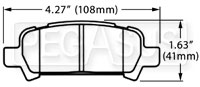 Click for a larger picture of Hawk Brake Pad, 02 Subaru WRX Rear (D770)