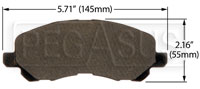 Click for a larger picture of Hawk Brake Pad: Chrysler, Dodge, Mitsubishi (D866)