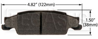 Click for a larger picture of Hawk Brake Pad: Cadillac 03-08 CTS, 05-08 STS Rear (D922)