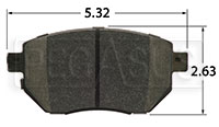 Click for a larger picture of Hawk Brake Pad, Infiniti, Nissan (D969)