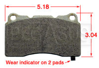Click for a larger picture of Hawk Brake Pad, Alfa, Cadillac, Mitsubishi, Subaru (D1001)