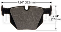 Click for a larger picture of Hawk Brake Pad: BMW Rear (D1042)
