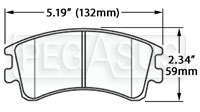 Click for a larger picture of Hawk Brake Pad, 03-06 Mazda 6 (D957)