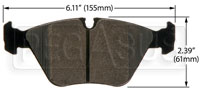 Click for a larger picture of Hawk Brake Pad: BMW 03-06 M3, 06-08 Z4 (D946)