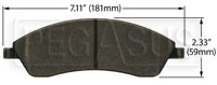 Click for a larger picture of Hawk Brake Pad: Cadillac SRX (D1019)