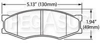 Click for a larger picture of Hawk Brake Pad: 84-89 Nissan 300ZX (D266)