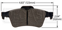 Click for a larger picture of Hawk Brake Pad: Mazda 3, 5, Solstice Rear (D1095)