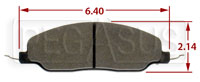 Click for a larger picture of Hawk Brake Pad, 05-10 Ford Mustang GT (D1081)