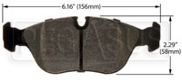 Click for a larger picture of Hawk Brake Pad: Volvo 850, C70, S70, V70 (D618)