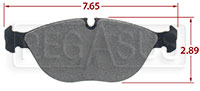 Click for a larger picture of Hawk Brake Pad, BMW Z8 / 750iL, Chrysler Crossfire (D682)