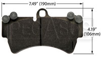 Click for a larger picture of Hawk Brake Pad: Porsche Cayenne (D1014)