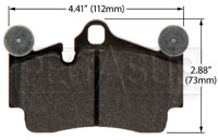 Click for a larger picture of Hawk Brake Pad: Porsche Cayenne, VW Touareg Rear (D978)