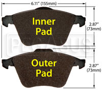Click for a larger picture of Hawk Brake Pad: Audi, Volvo, VW CC VR6 (D915)