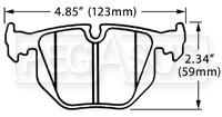 Click for a larger picture of Hawk Brake Pad, BMW Rear (D683)