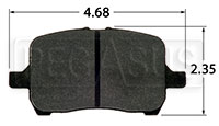 Click for a larger picture of Hawk Brake Pad, Cobalt, G6, Saturn Ion Redline (D1028)