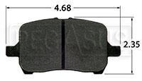 Click for a larger picture of Hawk Brake Pad, Cobalt, G6, Saturn Ion Redline (D1028)