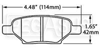 Click for a larger picture of Hawk Brake Pad, Cobalt, G6, Saturn Ion Redline Rear (D1033)