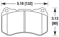 Click for a larger picture of Hawk Brake Pad: Acura TL Type S 07-08 (D1049)