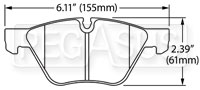 Click for a larger picture of Hawk Brake Pad: BMW Z4 (D1061)