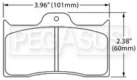 Click for a larger picture of Hawk Brake Pad: Wilwood BDL, FDL w/Cotter Pin
