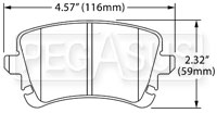 Click for a larger picture of Hawk Brake Pad: Audi, VW (D1107)