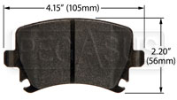 Click for a larger picture of Hawk Brake Pad: Audi, VW Rear (D1108)