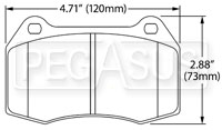 Click for a larger picture of Hawk Brake Pad: 04-09 Nissan 350Z with Brembo (D960)