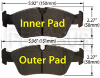 Click for a larger picture of Hawk Brake Pad: BMW (D781)