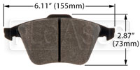 Click for a larger picture of Hawk Brake Pad, Mazdaspeed 3, Mazdaspeed 6 (D1186)