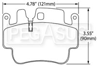 Click for a larger picture of Hawk Brake Pad: Porsche Boxster S, 911, Cayman (D917)