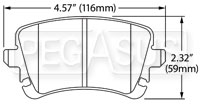 Click for a larger picture of Hawk Brake Pad, Audi A6/A8/S4/S6/S8, rear (D1018)