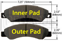 Click for a larger picture of Hawk Brake Pad: Escalade, Silverado (D1092)