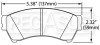 Click for a larger picture of Hawk Brake Pad: Ford Fusion, Mazda 6 (D1164)