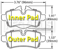 Click for a larger picture of Hawk Brake Pad: BMW Mini Cooper Rear, 07-09 (D1309)