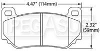 Click for a larger picture of Hawk Brake Pad: AP Racing Caliper