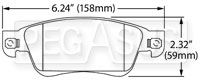 Click for a larger picture of Hawk Brake Pad: Infiniti G35 Sport, G37 (D1287)