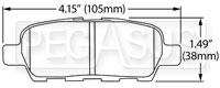 Click for a larger picture of Hawk Brake Pad: Infiniti G35 Sport, G37 (D1288)
