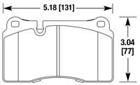 Click for a larger picture of HB632 Hawk Brake Pad, Corvette rear, Ferrari 612 (D1129)