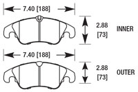 Click for a larger picture of Hawk Brake Pad: Audi A5 Quattro, Front (D1322)