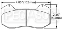 Click for a larger picture of Hawk Brake Pad: Wilwood DynaPro 6 (Type 6712)