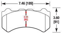 Click for a larger picture of Hawk Brake Pad: Nissan GT-R (D1382)